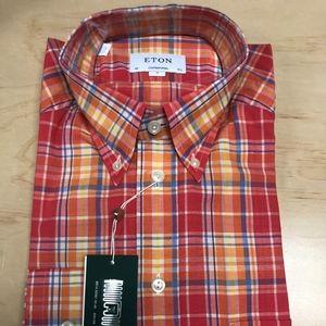 Cotton Linen Button Down Contemporary Fit Eton